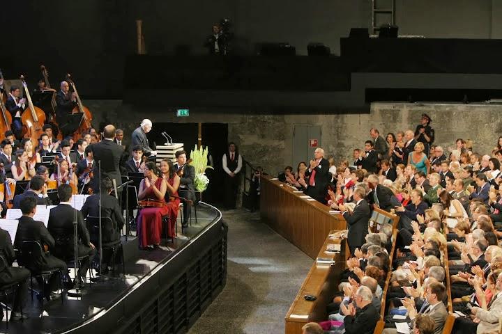 Las participaciones del maestro Abreu y de la Sinfónica Juvenil de Caracas durante la ceremonia oficial de apertura fueron aplaudidas y celebradas por el público presente