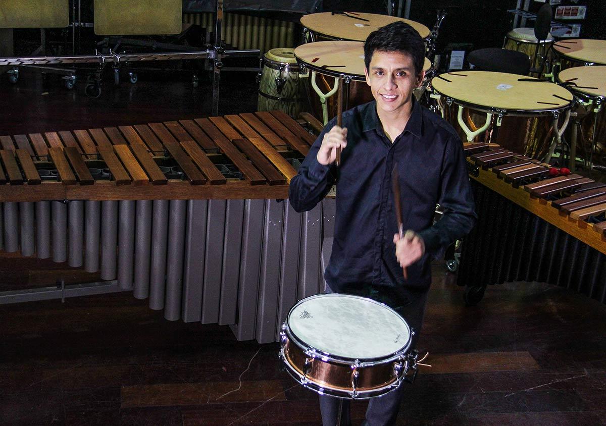 Joel Maximiliano Polo Mostró Su Destreza Musical En La Apertura Del XI Festival Internacional De Percusión Venezuela