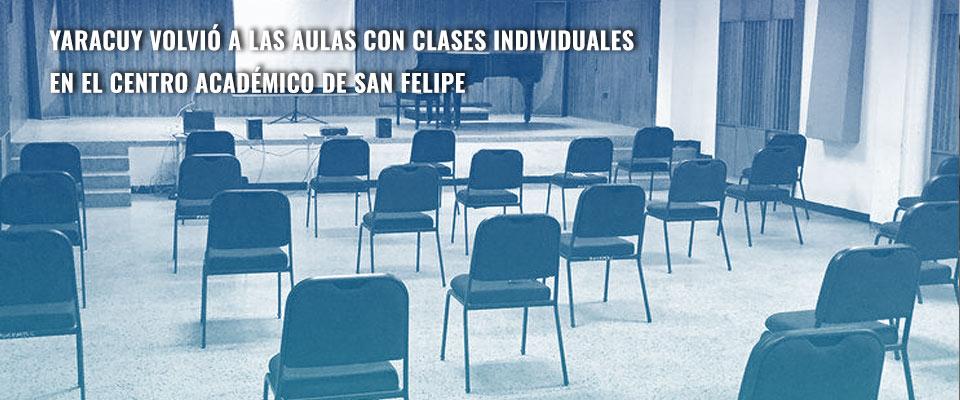 Yaracuy volvió a las aulas con clases individuales en el Centro Académico de San Felipe