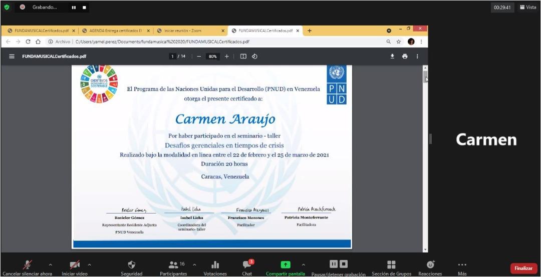 Diploma Carmen Araujo