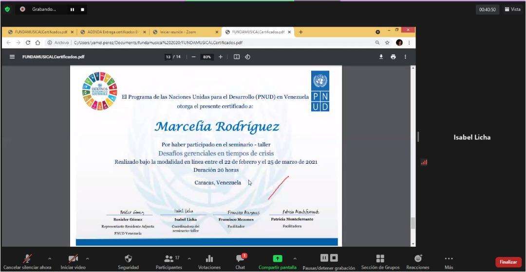 Diploma Marcela Rodriguez