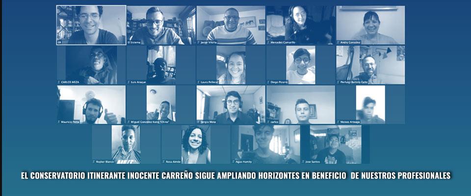 El Conservatorio Itinerante Inocente Carreño sigue ampliando horizontes en beneficio de nuestros profesionales