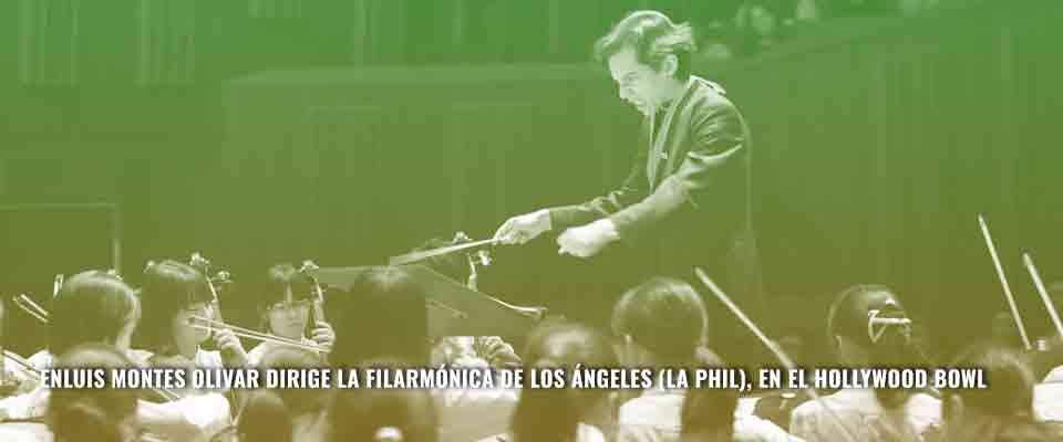 Enluis Montes Olivar dirige La Filarmónica De Los Ángeles (La Phil), en el Hollywood Bowl