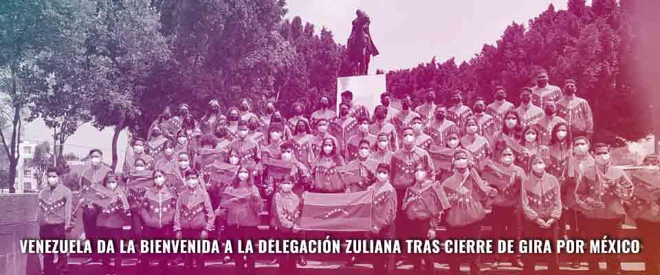 Venezuela da la bienvenida a la delegación zuliana tras cierre de gira por México