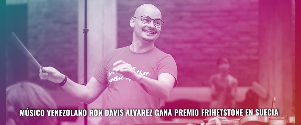 Músico venezolano Ron Davis Alvarez gana premio Frihetstone en Suecia